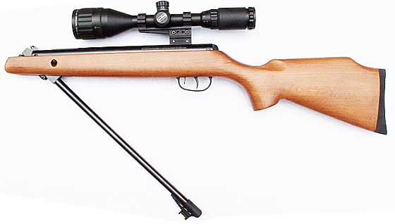 Crosman Optimus breakbarrel pellet rifle cocked