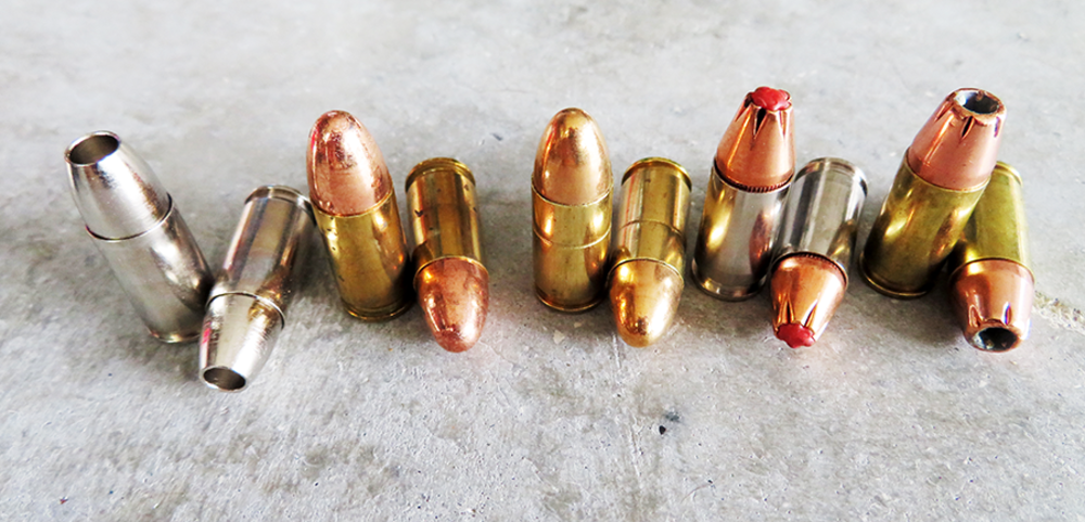 photo of 10 rounds of 9mm ammo