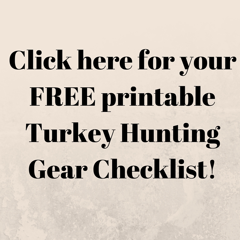 printable turkey hunting checklist
