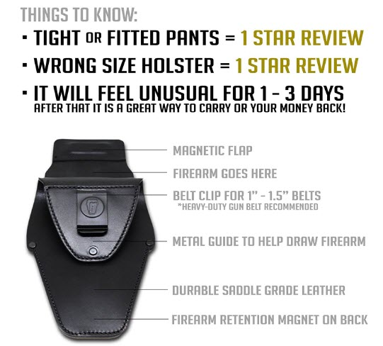features urban carry holster review