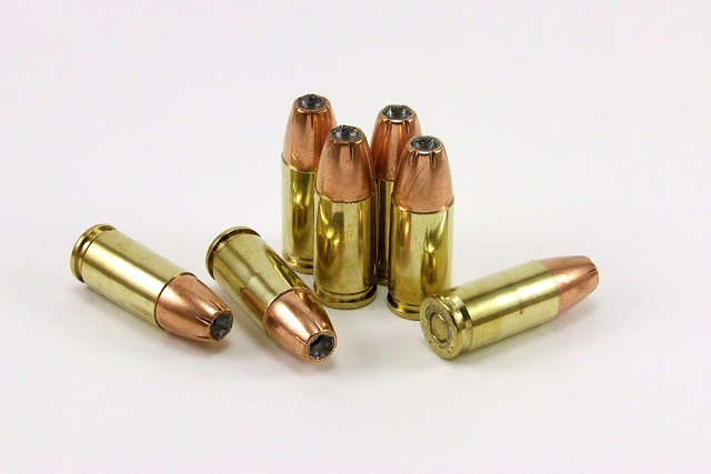 seven rounds of 9mm ammo