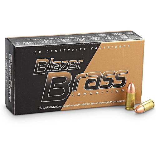 Blazer Brass 9mm FMJ Ammo