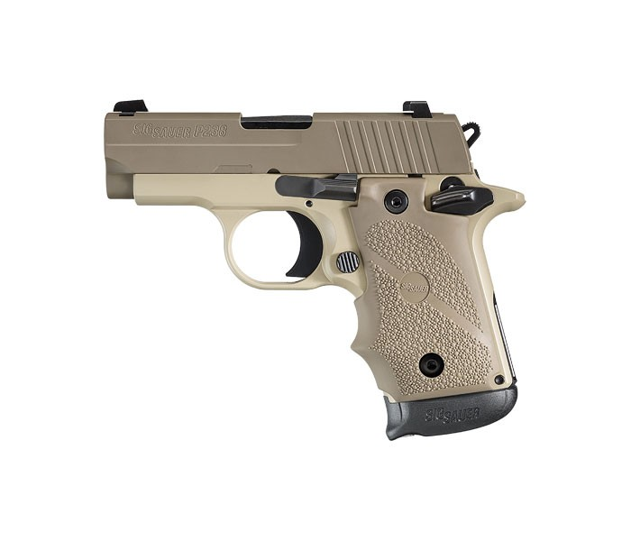 product photo of SIG Sauer P238 handgun, ideal for women