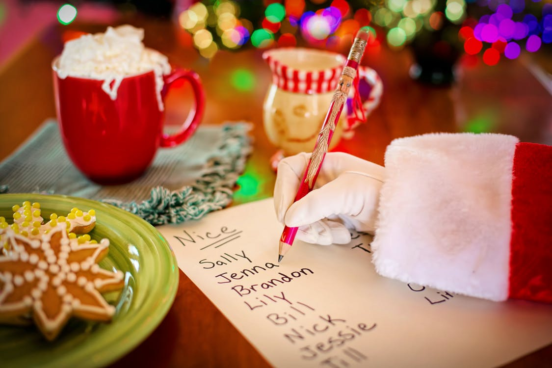 santa's list, checking it twice